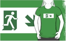 Lee Wilson Running Man Exit Sign Adult T-Shirt 19