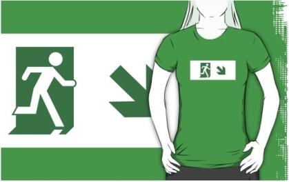 Lee Wilson Running Man Exit Sign Adult T-Shirt 19