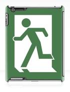 Lee Wilson Running Man Exit Sign Apple iPad Tablet Case 134