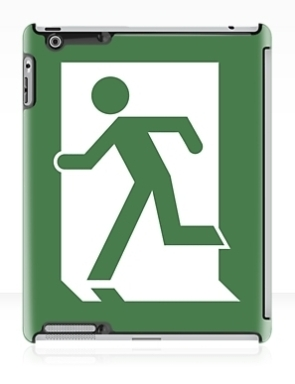 Lee Wilson Running Man Exit Sign Apple iPad Tablet Case 134