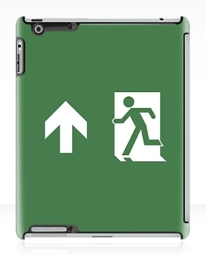 Lee Wilson Running Man Exit Sign Apple iPad Tablet Case 14