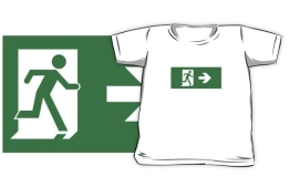 Lee Wilson Running Man Exit Sign Kids T-Shirt 13