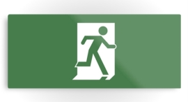 Lee Wilson Running Man Exit Sign Printed Metal 24