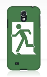 Lee Wilson Running Man Exit Sign Samsung Galaxy Mobile Phone Case 130