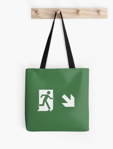 Lee Wilson Running Man Exit Sign Tote Shoulder Carry Bag 6