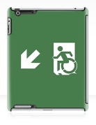 Accessible Means of Egress Icon Exit Sign Wheelchair Wheelie Running Man Symbol by Lee Wilson PWD Disability Emergency Evacuation iPad Case 5