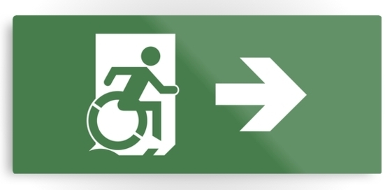 Accessible Means Of Egress Icon Merchandise Disability