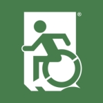 Emergency Evacuation Accessible Means of Egress Icon  Accessible Exit Sign