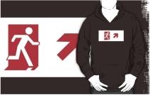 Running Man Exit Sign Adult T-Shirt 109
