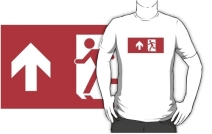 Running Man Exit Sign Adult T-Shirt 12