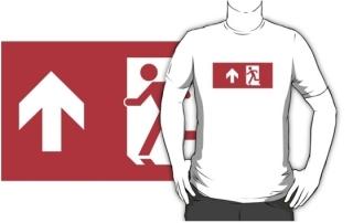 Running Man Exit Sign Adult T-Shirt 12