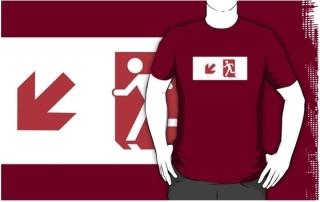 Running Man Exit Sign Adult T-Shirt 120