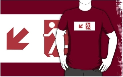 Running Man Exit Sign Adult T-Shirt 120