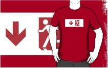 Running Man Exit Sign Adult T-Shirt 121