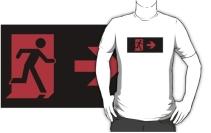 Running Man Exit Sign Adult T-Shirt 128