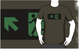 Running Man Exit Sign Adult T-Shirt 13