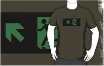 Running Man Exit Sign Adult T-Shirt 13