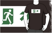 Running Man Exit Sign Adult T-Shirt 18