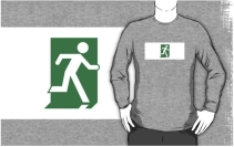 Running Man Exit Sign Adult T-Shirt 21