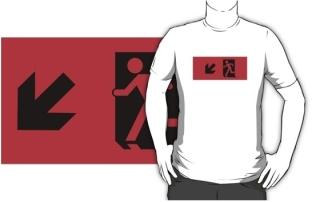 Running Man Exit Sign Adult T-Shirt 22