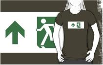 Running Man Exit Sign Adult T-Shirt 23