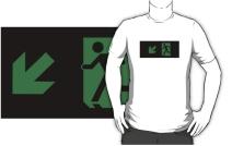 Running Man Exit Sign Adult T-Shirt 24
