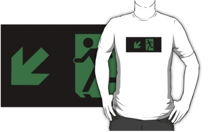 Running Man Exit Sign Adult T-Shirt 24