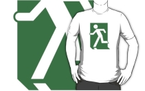 Running Man Exit Sign Adult T-Shirt 28