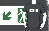 Running Man Exit Sign Adult T-Shirt 29