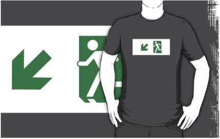 Running Man Exit Sign Adult T-Shirt 29
