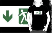 Running Man Exit Sign Adult T-Shirt 30