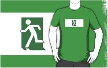 Running Man Exit Sign Adult T-Shirt 31