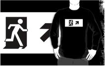 Running Man Exit Sign Adult T-Shirt 39