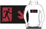 Running Man Exit Sign Adult T-Shirt 4
