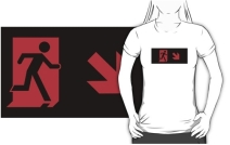 Running Man Exit Sign Adult T-Shirt 4