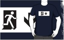 Running Man Exit Sign Adult T-Shirt 42