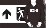 Running Man Exit Sign Adult T-Shirt 47