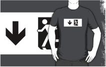 Running Man Exit Sign Adult T-Shirt 51