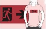 Running Man Exit Sign Adult T-Shirt 55