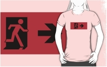 Running Man Exit Sign Adult T-Shirt 55