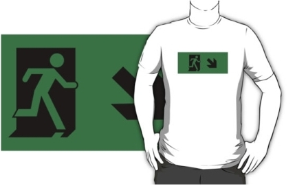 Running Man Exit Sign Adult T-Shirt 60