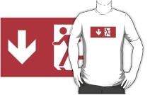 Running Man Exit Sign Adult T-Shirt 65