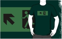 Running Man Exit Sign Adult T-Shirt 66