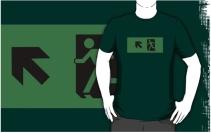 Running Man Exit Sign Adult T-Shirt 66