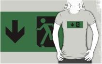 Running Man Exit Sign Adult T-Shirt 68