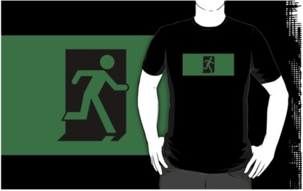 Running Man Exit Sign Adult T-Shirt 69
