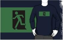 Running Man Exit Sign Adult T-Shirt 71