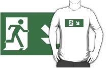 Running Man Exit Sign Adult T-Shirt 76