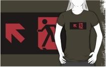 Running Man Exit Sign Adult T-Shirt 8