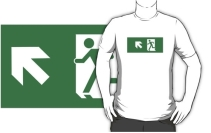 Running Man Exit Sign Adult T-Shirt 84